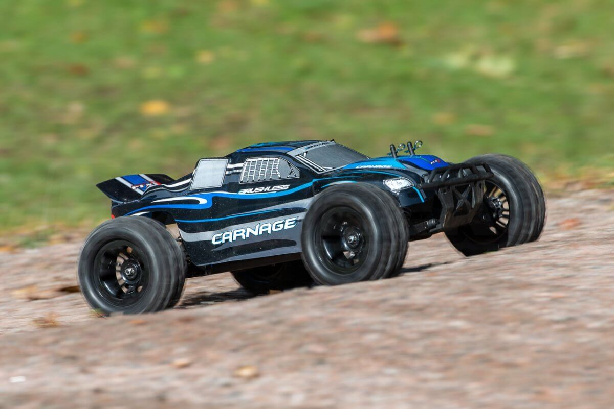 FTX Carnage Brushed versus Brushless comparison review brushless takeoff