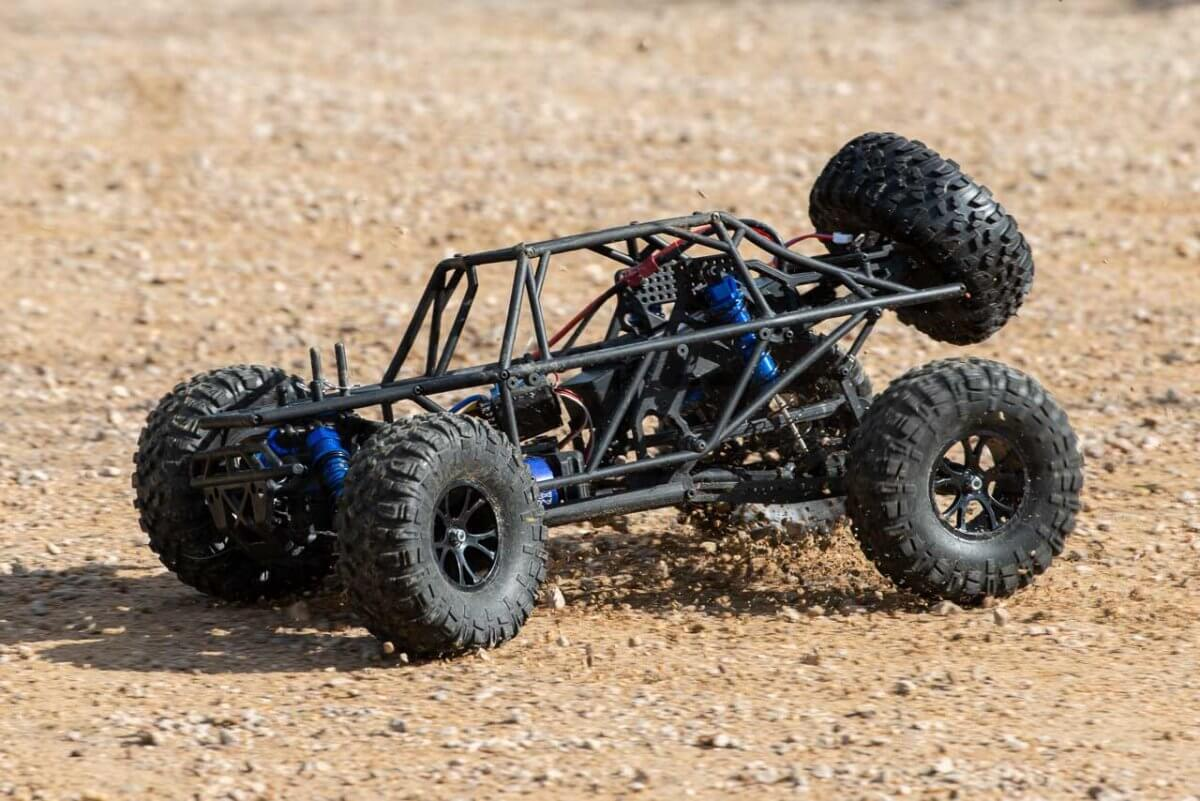 FTX Outlaw Ultra-4 Brushless Buggy Review naked on gravel two