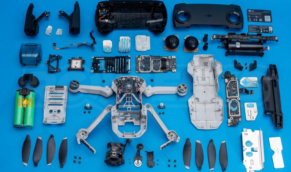 DJI Mavic Mini drone teardown guide repair detail feature