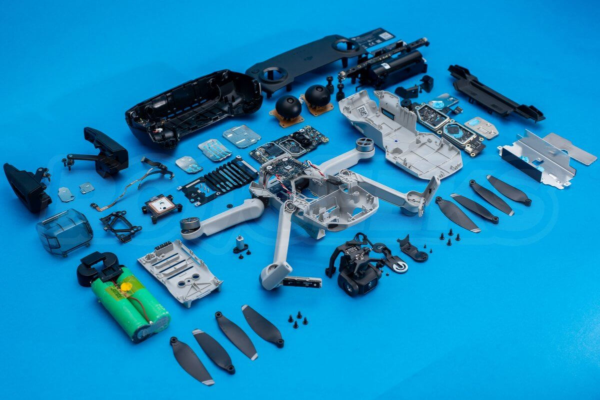 DJI Mavic Mini drone teardown guide repair detail feature offset
