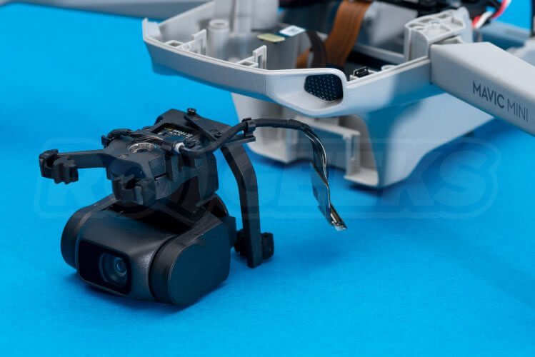DJI Mavic Mini drone teardown guide repair gimbal removed from drone