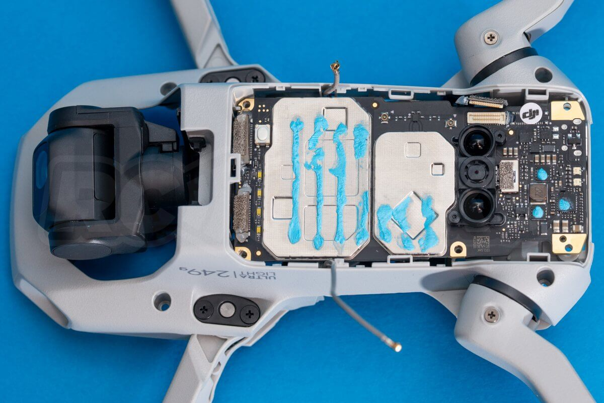 DJI Mavic Mini drone teardown guide repair mainboard disconnected