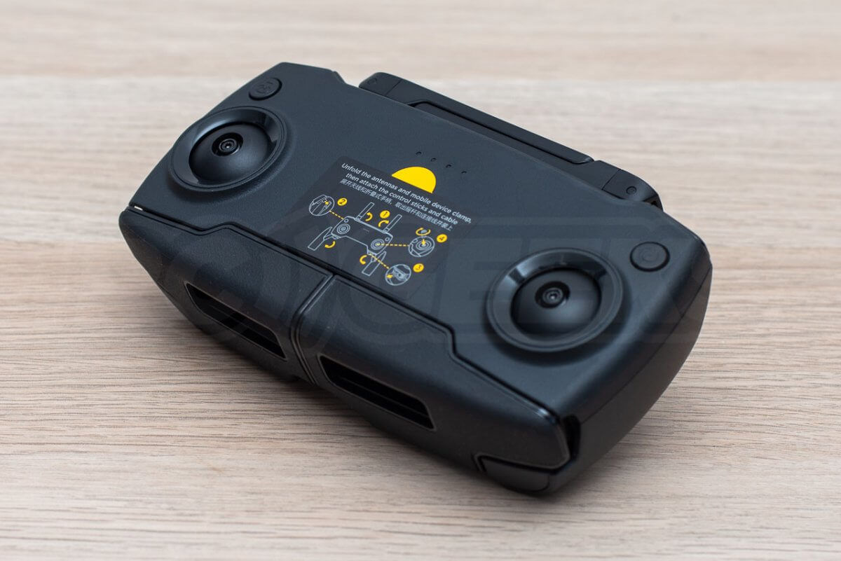 Mavic Mini Review unboxing transmitter front