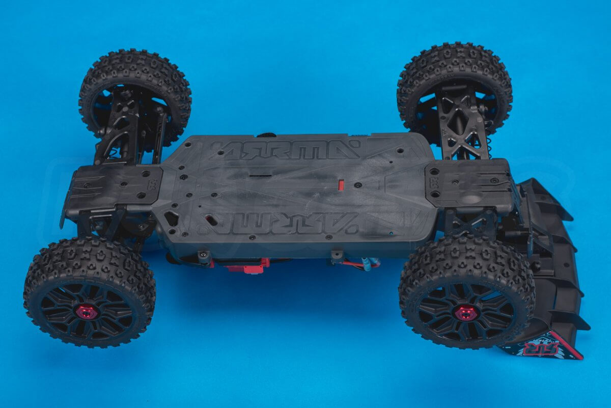 Arrma Typhon MEGA 4x4 Buggy Review chassis bottom plate