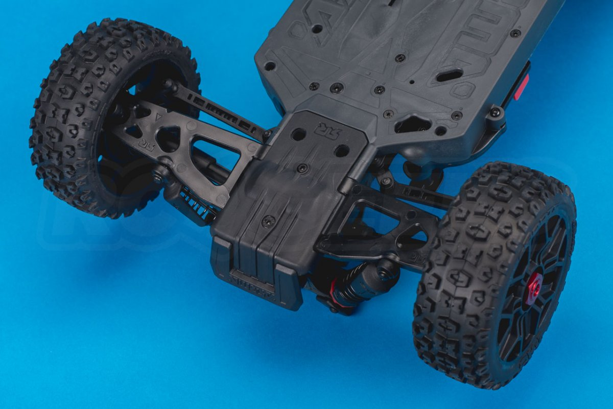 Arrma Typhon MEGA 4x4 Buggy Review chassis front guard lower arms