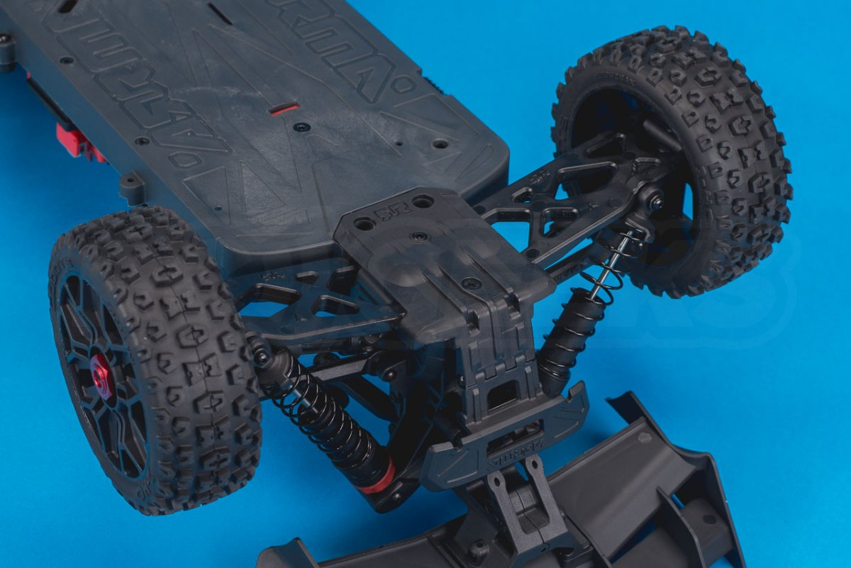 Arrma Typhon MEGA 4x4 Buggy Review chassis rear guard and bumper