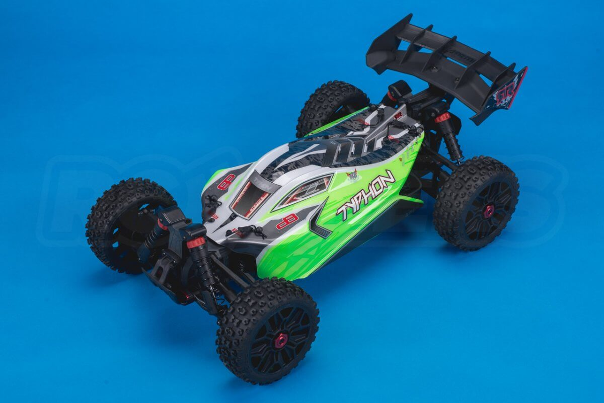 Arrma Typhon MEGA 4x4 Buggy Review studio front left