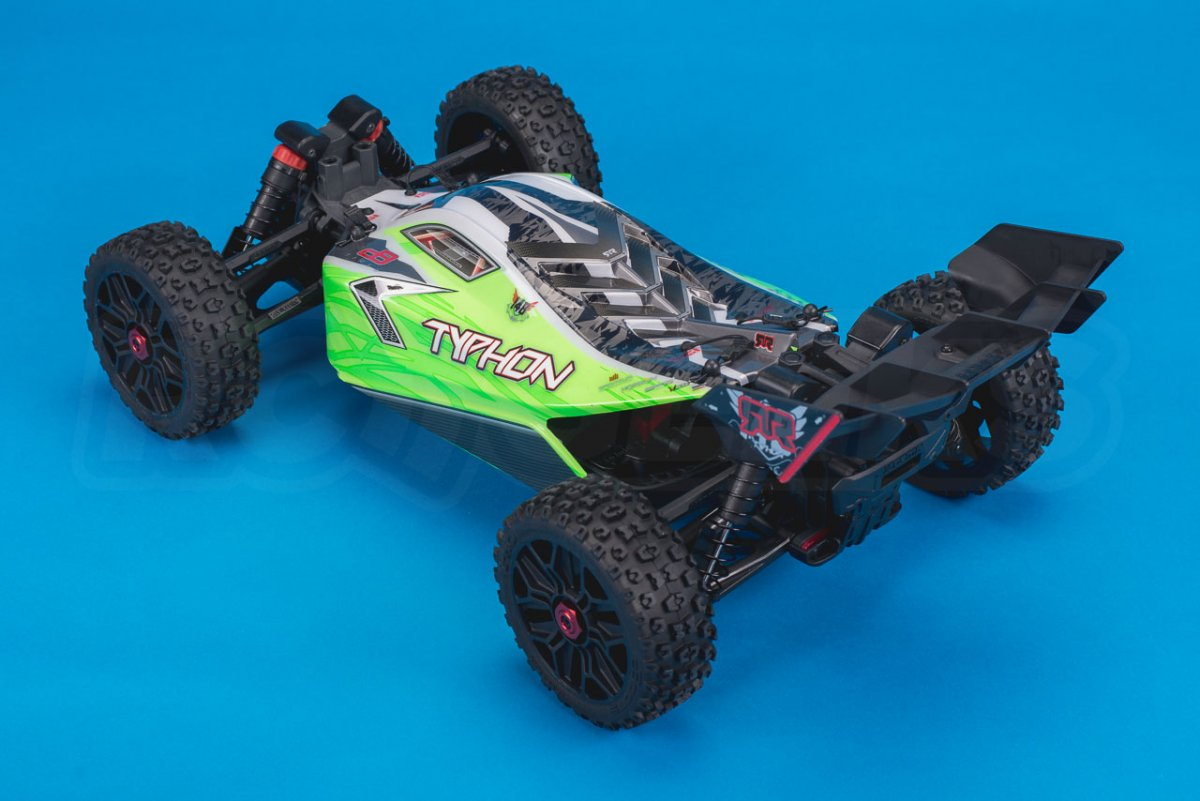Arrma Typhon MEGA 4x4 Buggy Review studio rear left