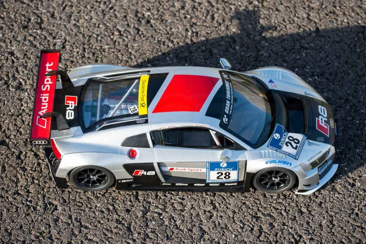 Rastar 14th Scale GT Racing cars review Audi R8 LMS high angle