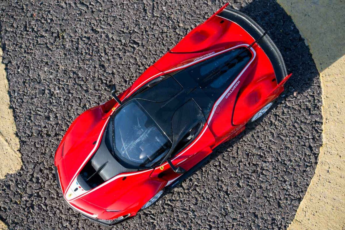 Rastar 14th Scale GT Racing cars review Ferrari FXX K Evo from above