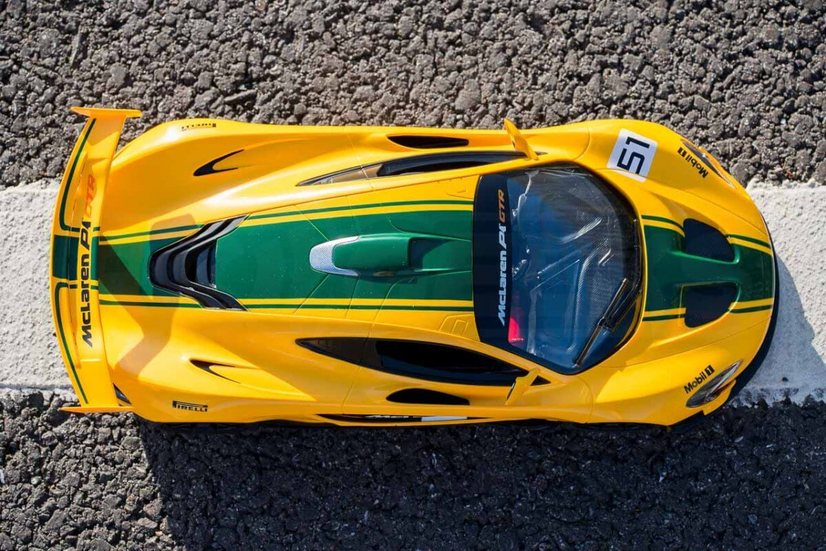 Rastar 14th Scale GT Racing cars review Mclaren P1 GTR from above