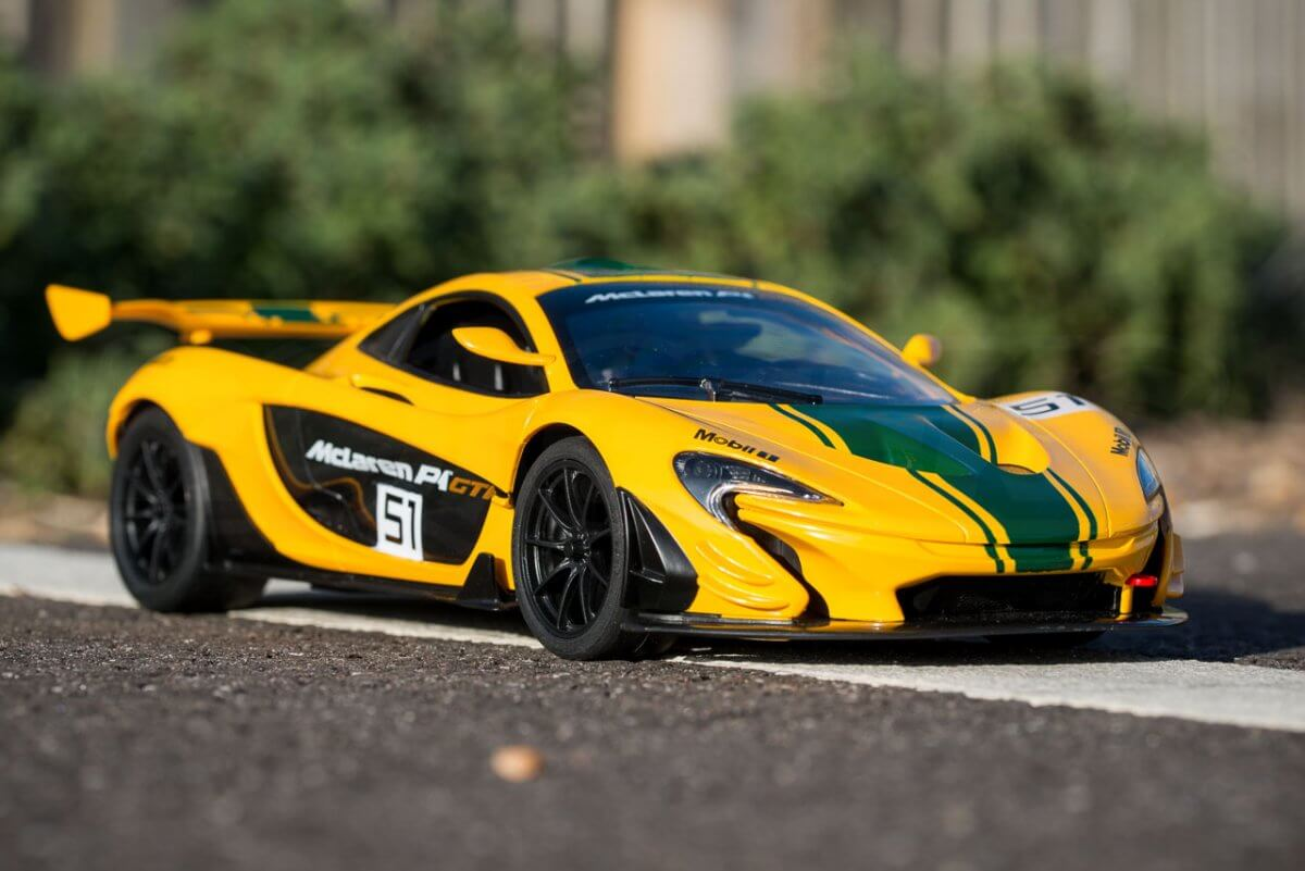Rastar 14th Scale GT Racing cars review Mclaren P1 GTR front low three quarter