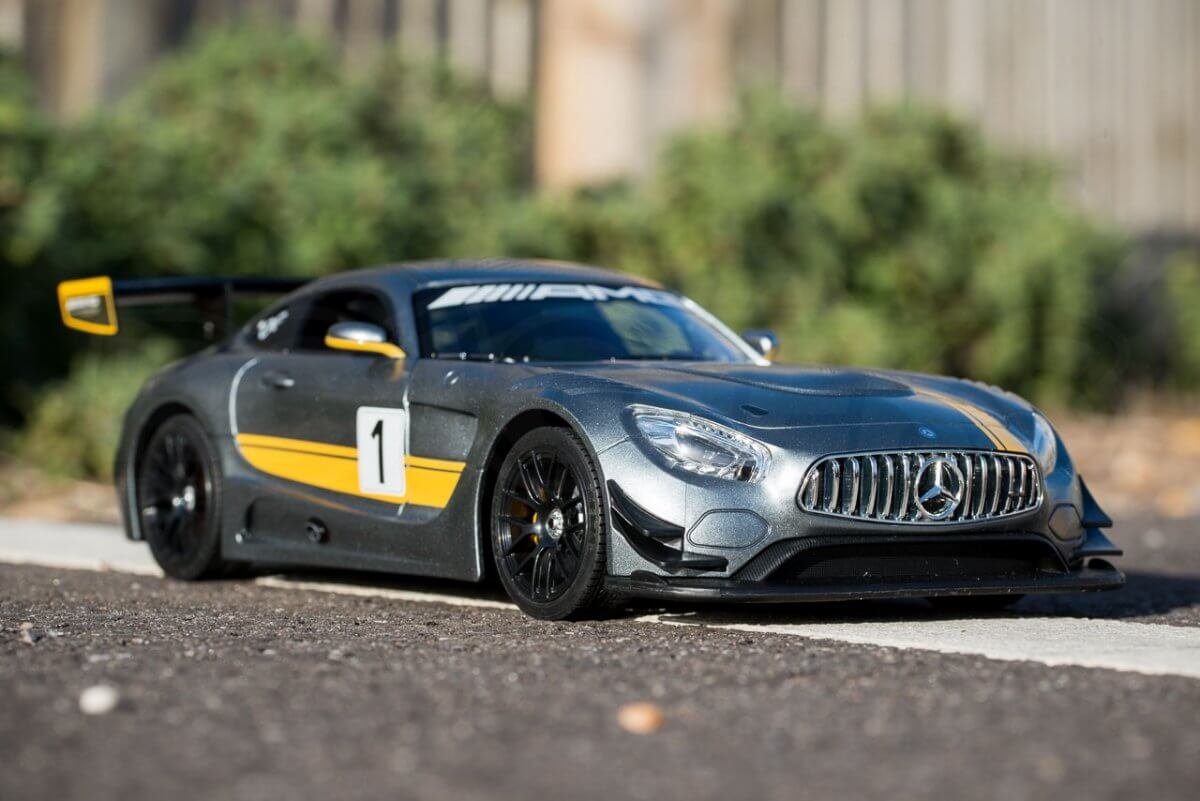 Rastar 14th Scale GT Racing cars review Mercedes AMG GT3 low three quarter
