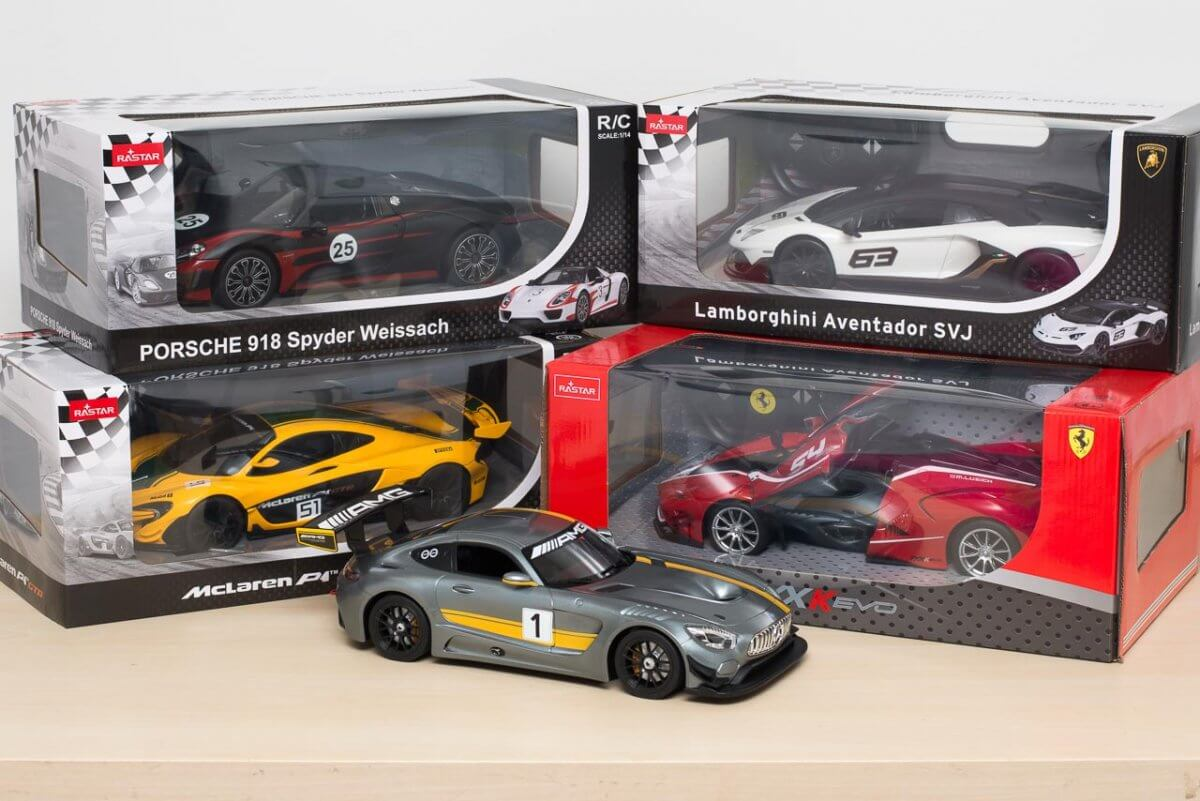 Rastar 14th Scale GT Racing cars review boxes unboxing display case