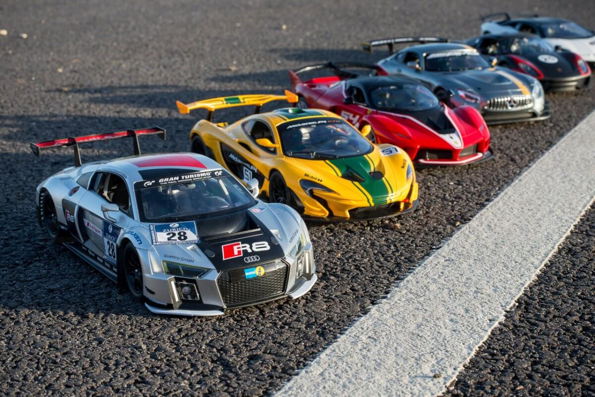 Rastar 14th Scale GT Racing cars review lemans lineup full pack wide