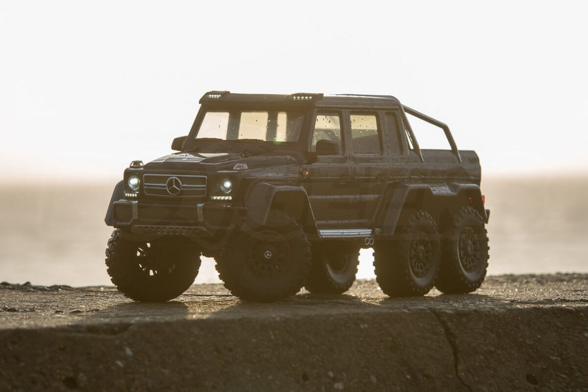 Traxxas TRX-6 Mercedes Benz G63 AMG Review beach sunrise shadow