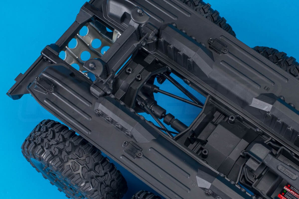 Traxxas TRX-6 Mercedes Benz G63 AMG Review chassis rear detail