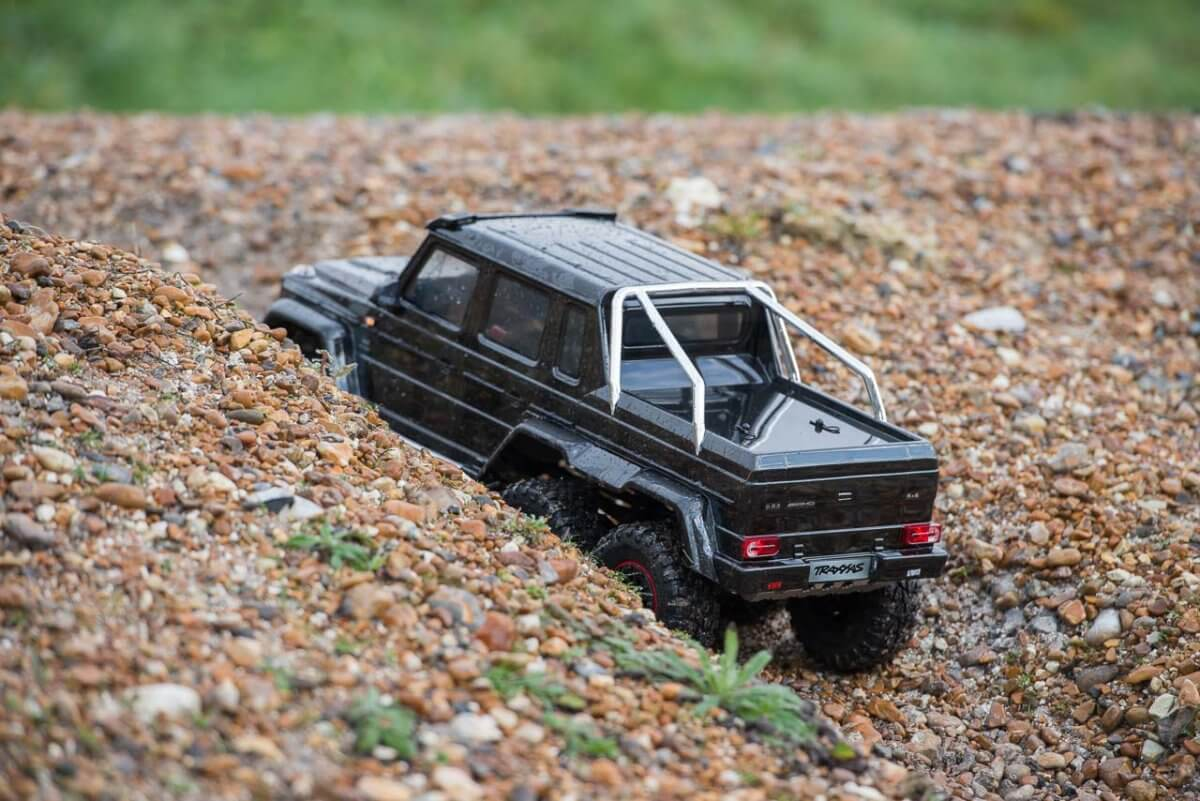 Traxxas TRX-6 Mercedes Benz G63 AMG Review gravel ditch climb one