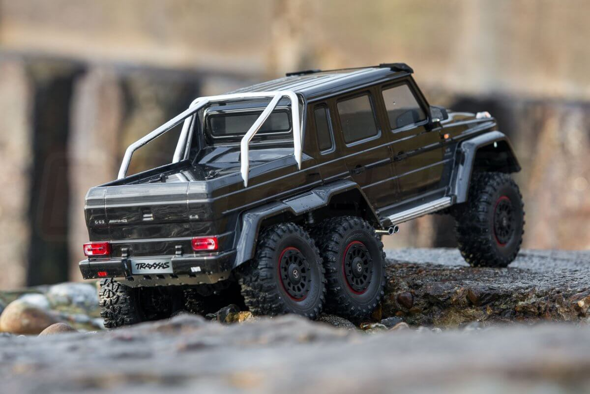 Traxxas TRX-6 Mercedes Benz G63 AMG Review rear three quarter feature